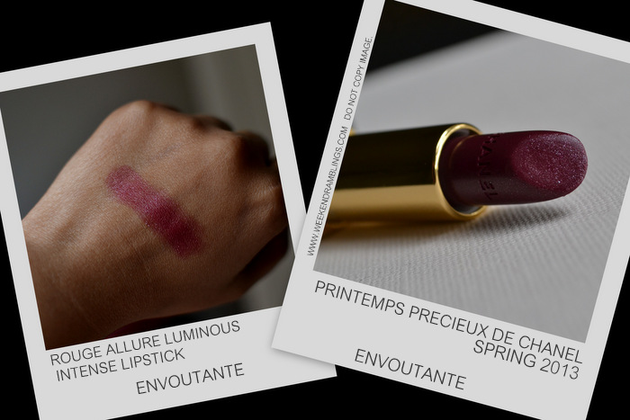 Printemps Precieux de Chanel Spring 2013 Makeup Collection Indian Darker Skin Beauty Blog Swatches Rouge Allure Luminous Intense Lipsticks Envoutante