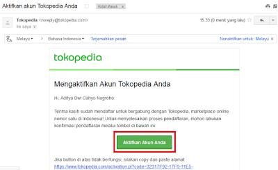 Cara Daftar Akun Member di Tokopedia
