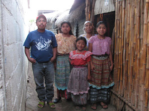 ANDREA, SCHOLARSHIP STUDENT, WITH HER FAMILY IN SAN PEDRO LA LAGUNA