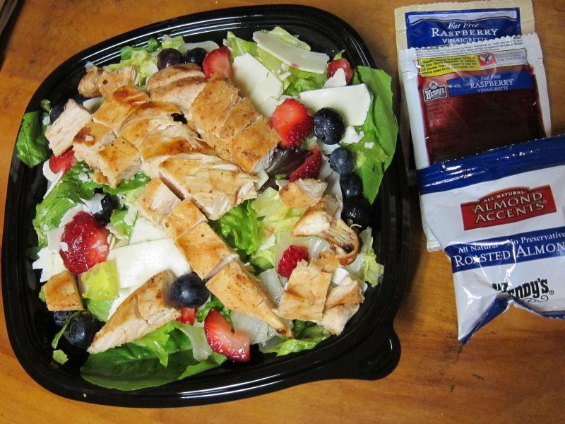 Wendys Menu Salads Wendy s Berry Almond Chicken