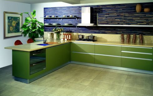 Kitchen Cabinet Design Online on Kitchen Cabinets Design With The Title Green Kitchen Cabinets Design