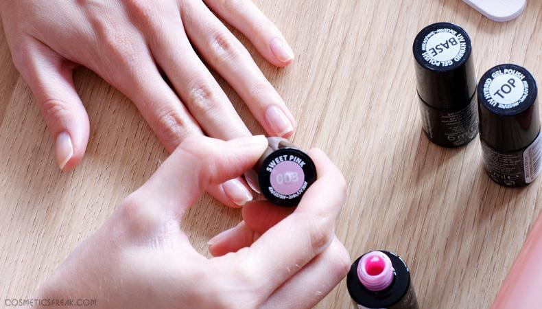 manicure hybrydowy tutorial