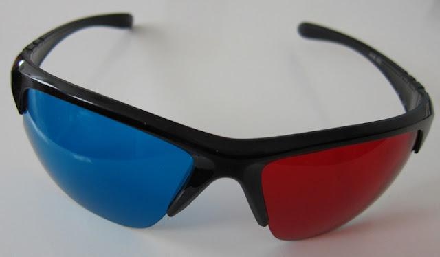 Paire de lunettes anaglyphes 3D