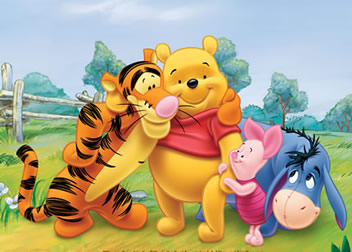 Pooh with friends Many Adventures of WInnie the Pooh 1977 animatedfilmreviews.filminspector.com