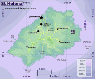 Saint Helena Regional Political Map