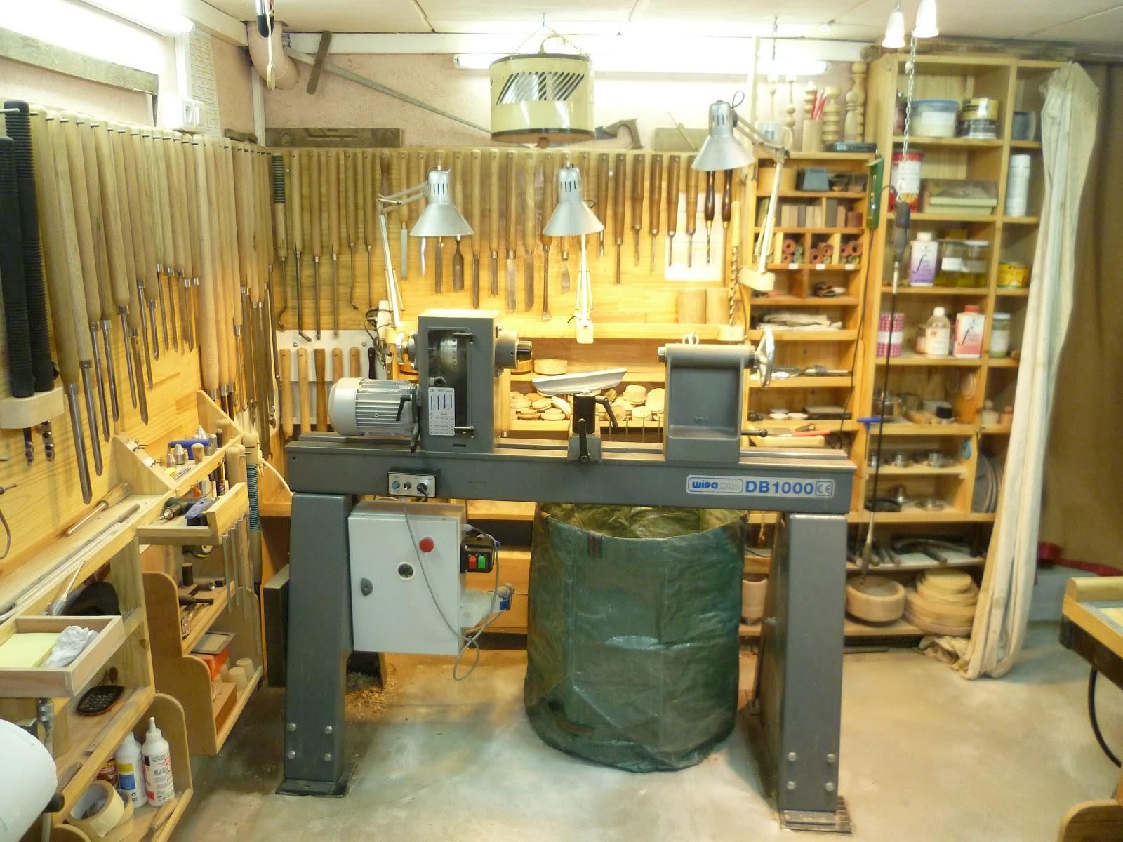 atelier du bois tourn woodturning design mon atelier. Black Bedroom Furniture Sets. Home Design Ideas