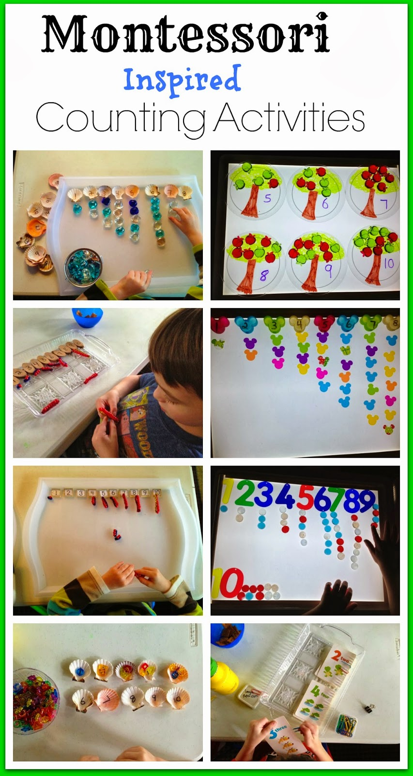 Montessori math numbers counting