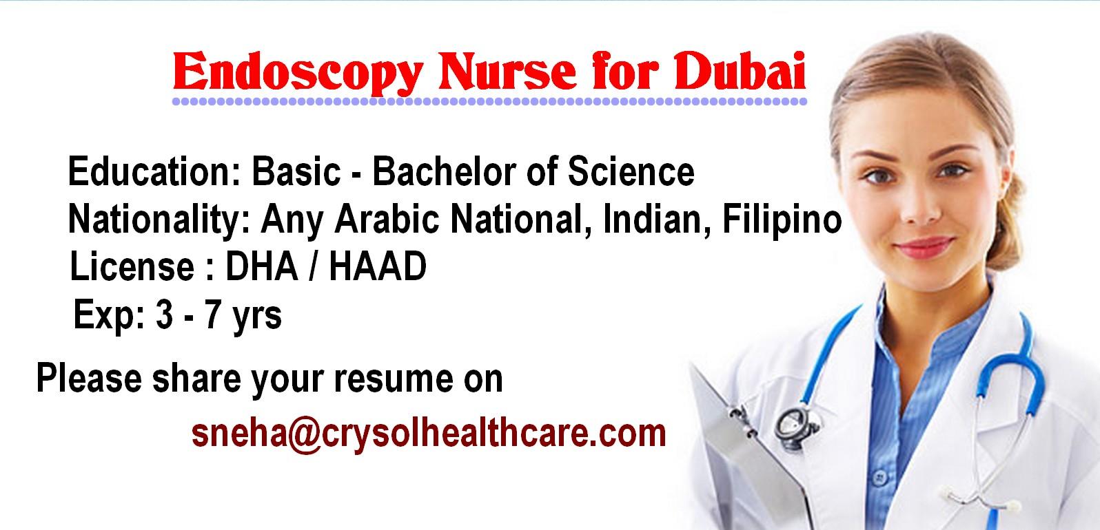 nurses job vacancy  endoscopy nurse for dubai