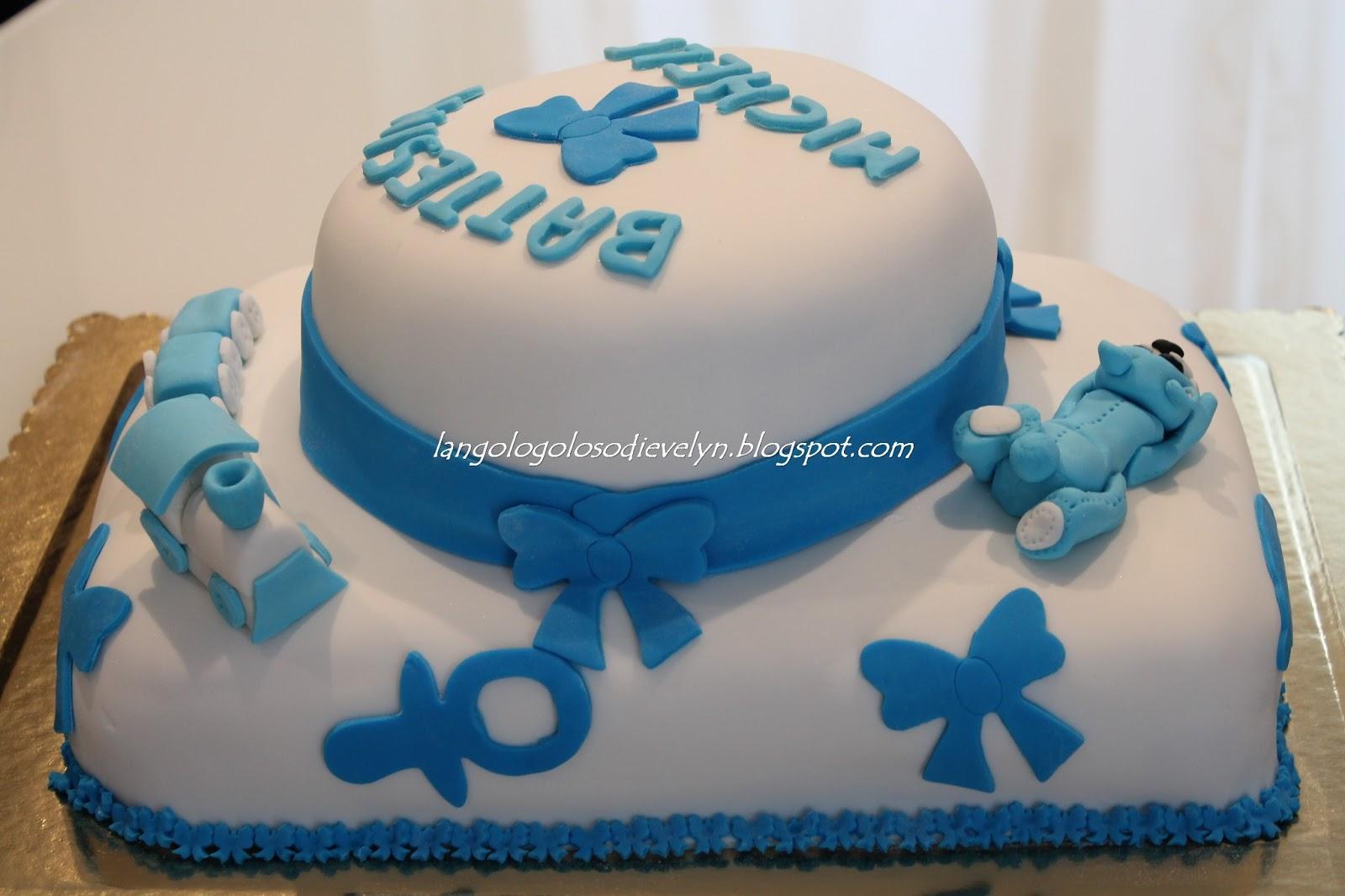 Estremamente Torta Battesimo Bimbo [Pasta di zucchero] | DK97