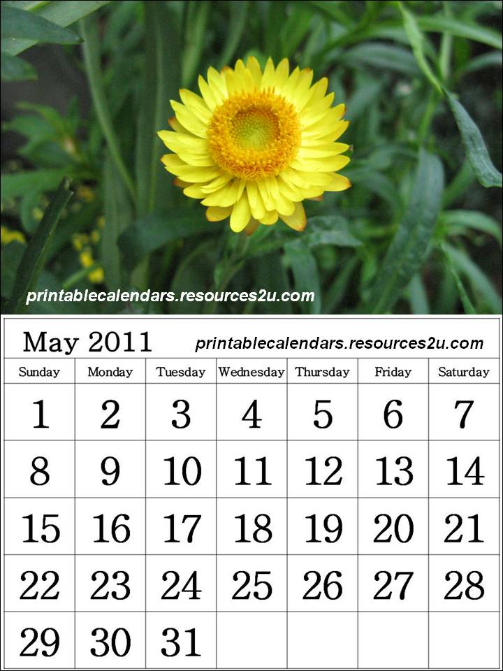 may 2011 calendar printable. This Calendar 2011 May monthly