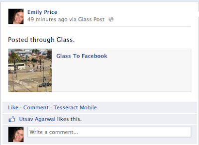 Glass To Facebook: Facebook makes its way to Google Glass