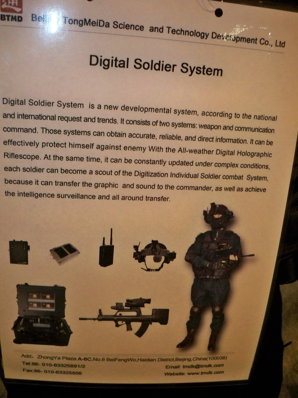 Police Chinoise  Beijing+TongMeiDa+presents+the+latest+in+Chinese+Digital+Soldier+System+technology+at+Milipol+2011j