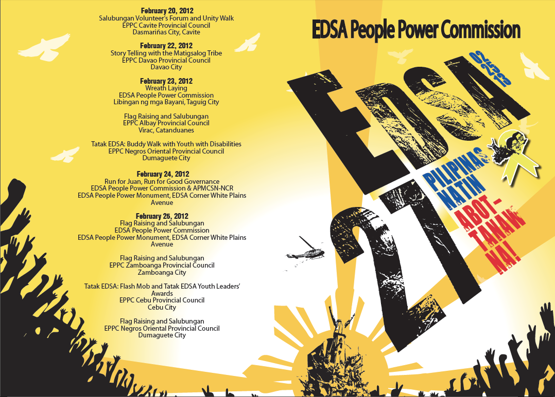 reaction paper edsa revolution anniversary Joey concepcion, vice chairperson of the edsa people power commission, earlier said they decided to hold a simple anniversary event on friday as they are expecting a lot of people celebrating in.