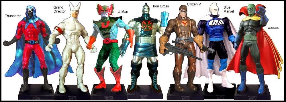 <b>Wave 58</b>: Thunderer, Grand Director, U-Man, Iron Cross, Citizen V, Blue Marvel and Aarkus