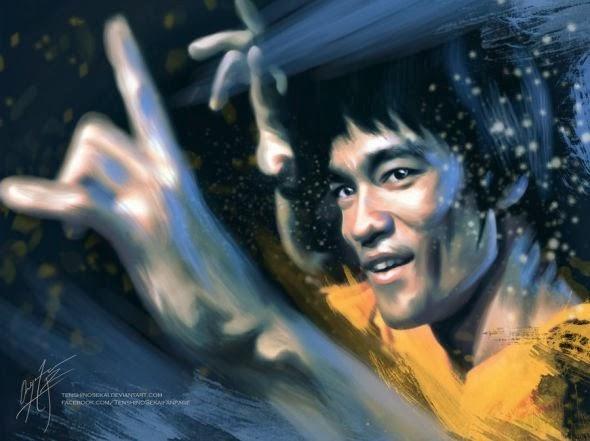 Angela Bermudez deviantart pinturas filmes cultura pop cinema Bruce Lee