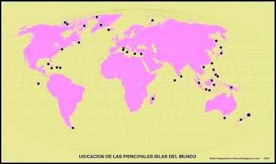 Mapamundi, seterra, Mapa de la ubicacion de las Islas en el mapamundi