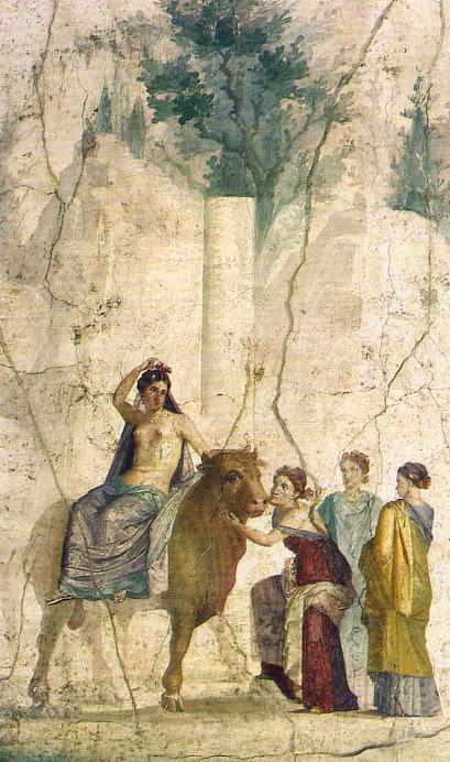 Europa riding her lover Zeus
