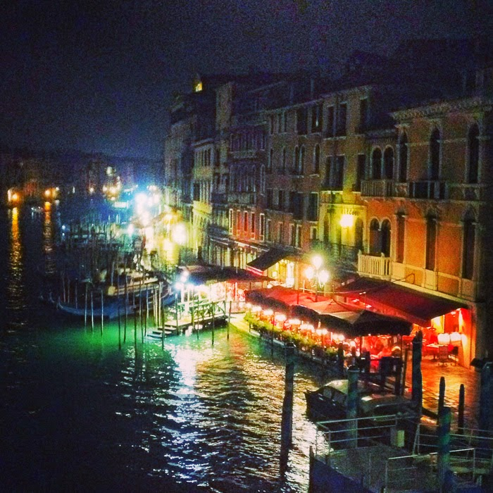 Venice, Night, Rialto Bridge