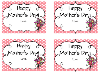 Printable Mothers Day Gift Tags