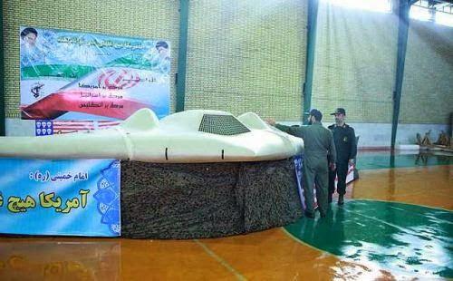UAV RQ-170 AS ditampilkan Iran