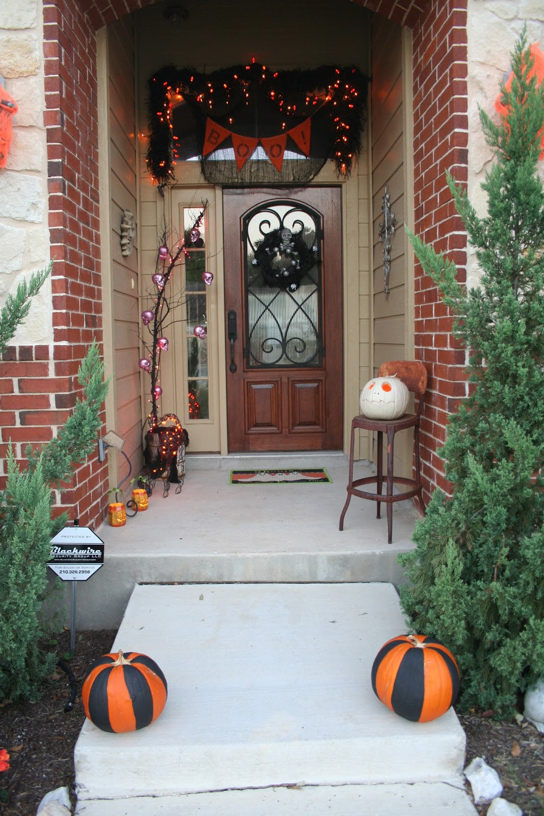 front door halloween decorations - Front Door Halloween Decorations