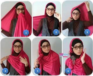 Inilah Tutorial Jilbab Untuk Wanita Berkacamata
