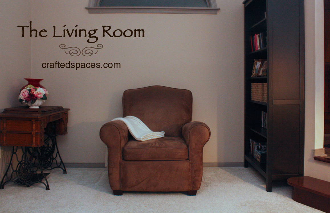Crafted spaces home organization challenge the living room for Living room organization