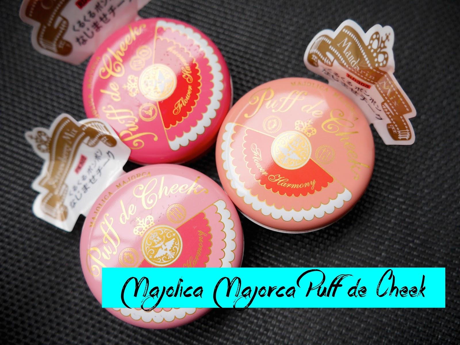 Majolica Majora Puff de Cheek cherry mix strawberry mix mandarin mix review swatch