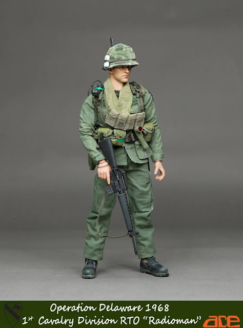 ACE SHIRT VIETNAM 1ST CALVARY DIVISION RTO RADIOMAN 1//6 ACTION FIGURE TOYS dam