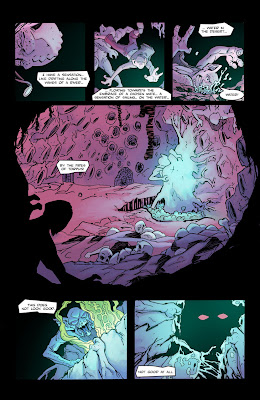 Bigfoot Sword of the Earthman issue 3 page one preview comic book barbarian graphic novel