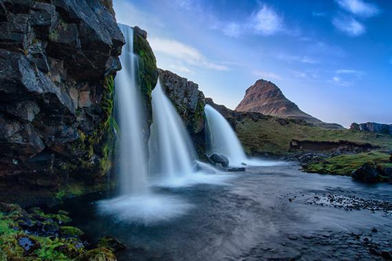 """The Waterfall"" captured by Ævar Guðmundsson."