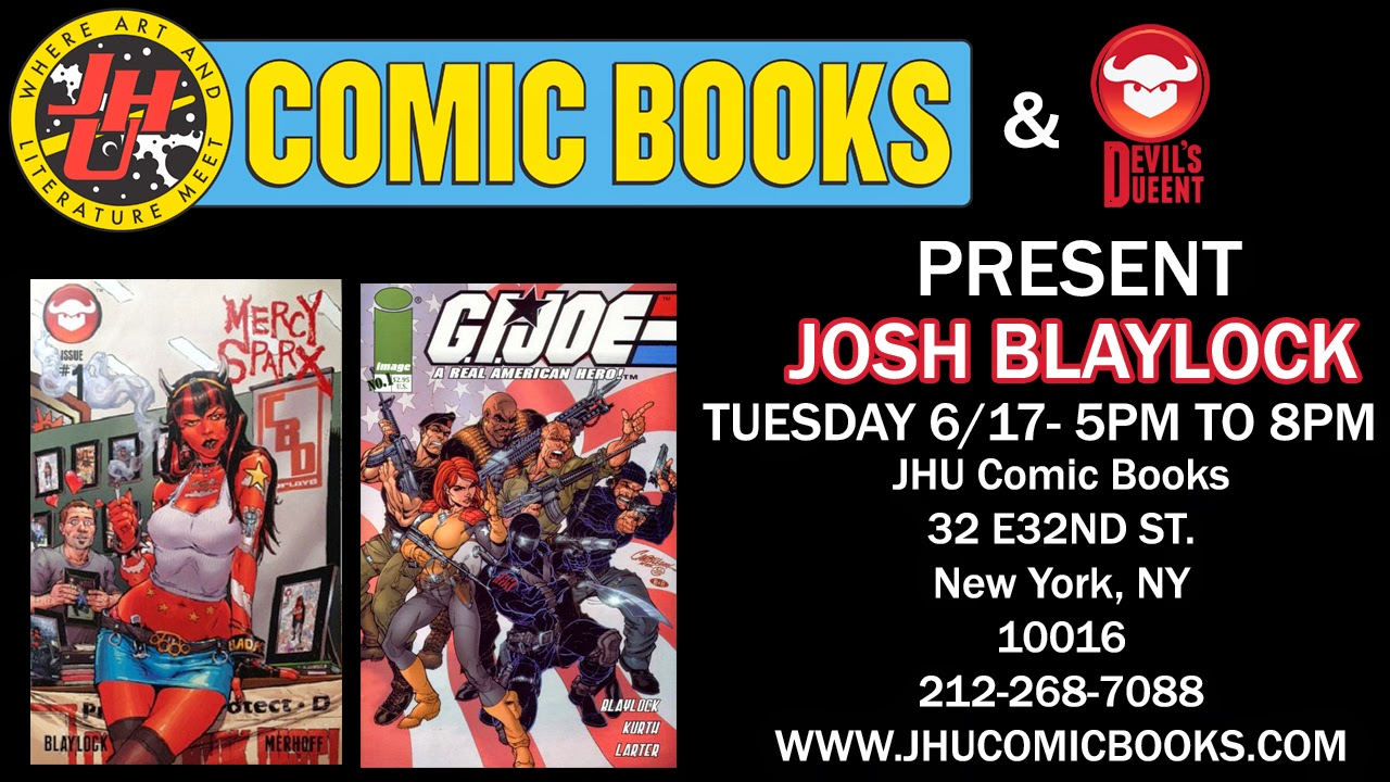 Jhu Comic Books Tuesday June 17th 2014 Jhu Comic Books And Devil S Due Present Josh Blaylock He has also appeared in the bernie mac show, no country for old men, and warehouse 13. jhu comic books tuesday june 17th 2014 jhu comic books and devil s due present josh blaylock