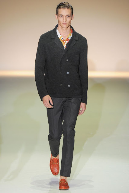 Male model Matvey Lykov S/S 2013 Gucci