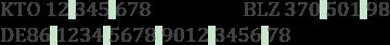 Eine IBAN wird nur im stehenden Schriftsatz in Vierergruppen gegliedert.