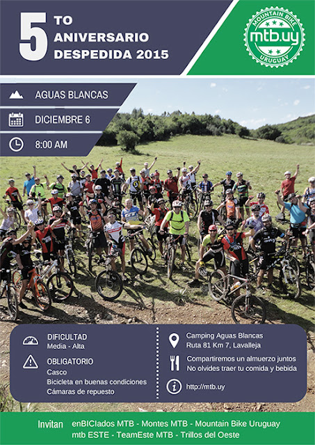 MTB - Jornada en Aguas blancas (Lavalleja, 06/dic/2015)