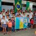 Cerimônia de inauguração do Grupo de Escoteiro Nsa de Lourdes.
