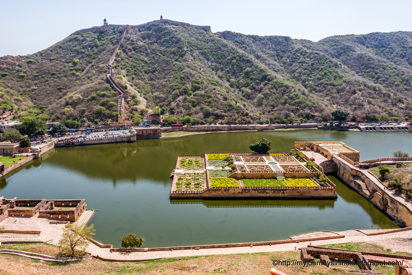 Floating Garden in Maota Lake Amer Fort Jaipur