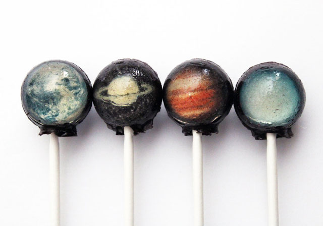{Kids} Solar system hard candy lollypops