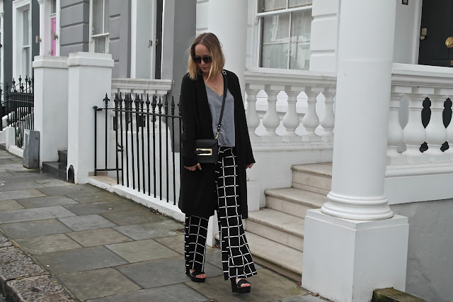 ASOS wide legged trousers by What Laura did Next