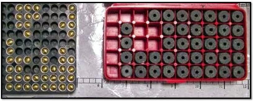 40 shotgun primers and 39 black powder pellets were discovered in a carry-on bag at Salt Lake City (SLC).