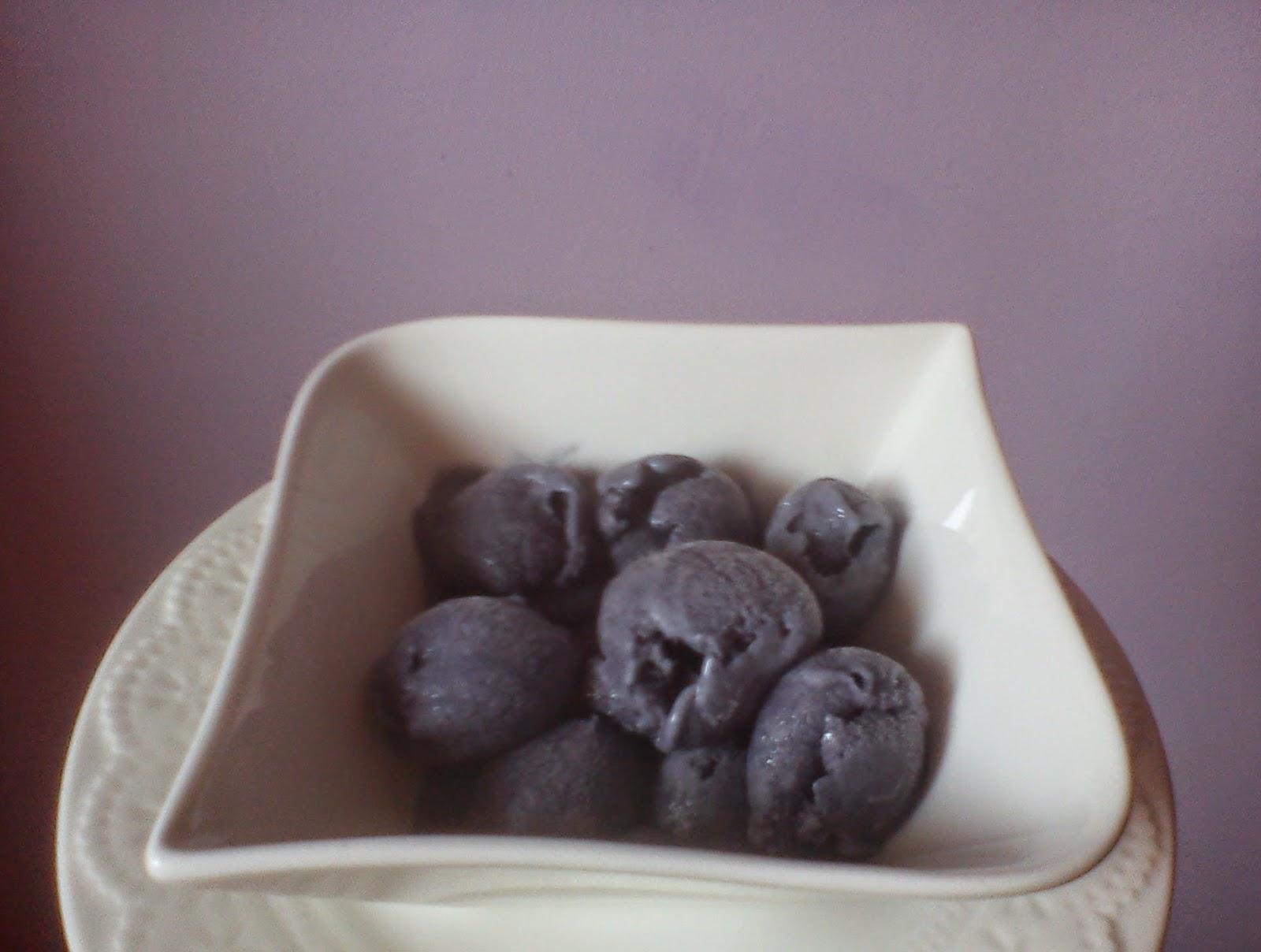 Helado de violetas