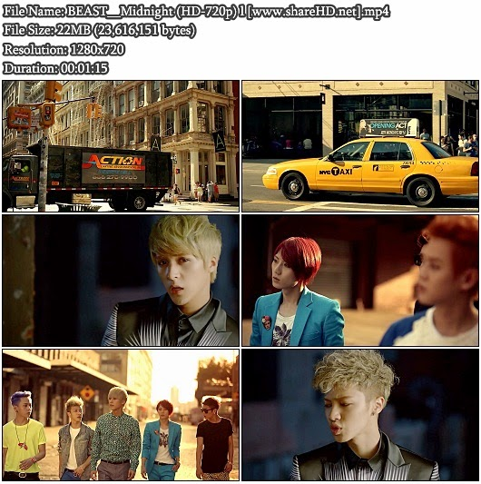 Download MV BEAST / B2ST () - Midnight () (HD 720p)
