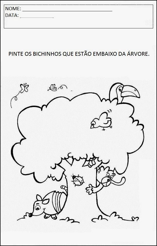Atividades sobre Animais - Pinte os Bichinhos