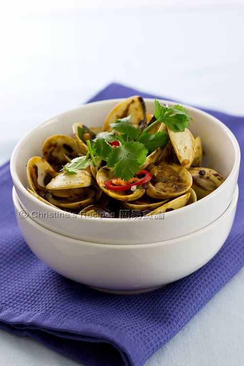 豉椒炒蜆 Stir-Fried Clams with Black Bean Sauce01
