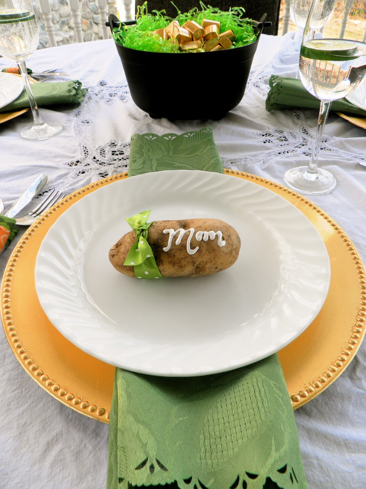 Irish Table Settings Be Book Bound Irish Authors A St Patricks Day Table