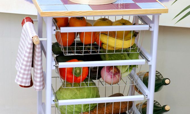 Mi rinc n de sue os carritos como mesa auxiliar en la cocina for Mesas auxiliares de cocina baratas