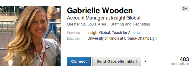 Teach for [corporate] America missionary Gabrielle Wooden taught in Mississippi for 2 years, and is now an account manager for Insight Global.