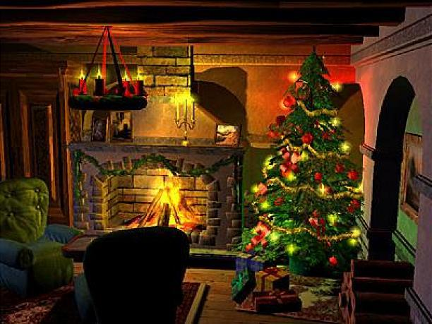 Cool Wallpapers Christmas Fireplace