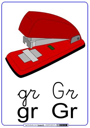 Fichas para trabajar las sílabas gr_