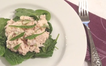 tuna basil granny smith apples salad